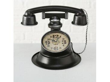 Tischuhr Rustikal Vintage Peters-Living Telefonoptik 21cm Standuhr