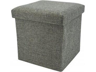 Sitzhocker mit Stauraum Noor Living 83067 Sitzwürfel Grau 38x38x38cm