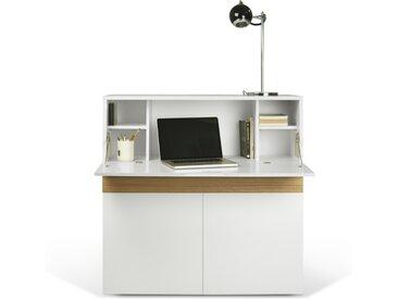 Sekretär - Workstation Focus - Weiß/ Eiche