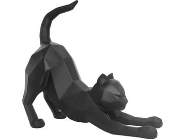 Origami - Katze streckend - Schwarz