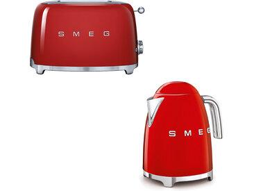 Smeg - Set Wasserkocher und Toaster - Rot