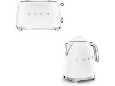 Smeg - Set Wasserkocher und Toaster - matt - Weiß