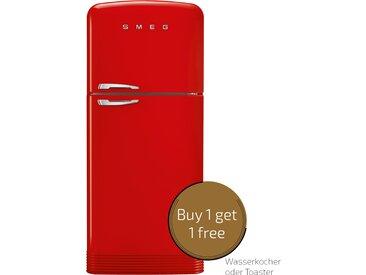 Smeg FAB50RRD - Standkühlgefrierkombination - Rot