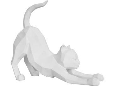 Origami - Katze streckend - Weiß