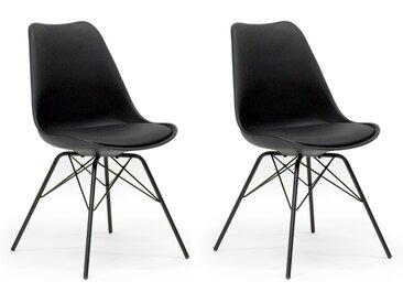 Messina - Stuhlset ( 2 Stck. ) - Schwarz