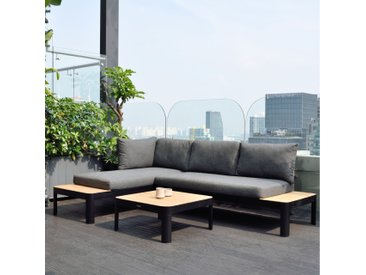 Set - Salina Lounge 3-teilig - Schwarz