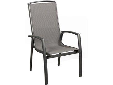 Suns Cerva Stapelsessel Aluminium/Textilene Matt Royal Grey/Black Grey
