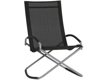 Siena Garden Brava Campingsessel Stahl/Ranotex®-Faser 2x1 Silber/Schwarz