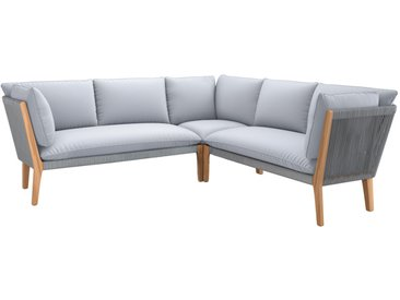 OUTLIV. Aura Loungeecke 3-tlg. Eukalyptus/Rope/Polster Weathered Willow/Stone Grey