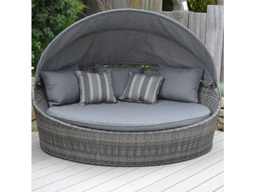 OUTLIV. Los Angeles Loungeinsel Geflecht Mixed Grey/Grey