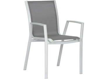 Stern Ron Stapelsessel Aluminium/Textilene Weiß