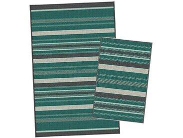 Korhani Nelson Outdoorteppich-Set 160x213 cm + 80x112 cm Grün|Mehrfarbig