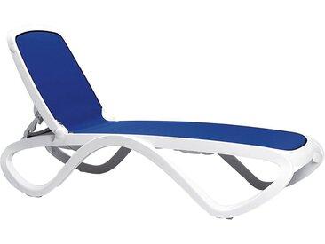 Nardi Omega Gartenliege Kunststoff/Textilene Weiß/Blau