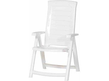 Jardin Aruba Klappsessel 72x61x110cm Kunststoff Weiß