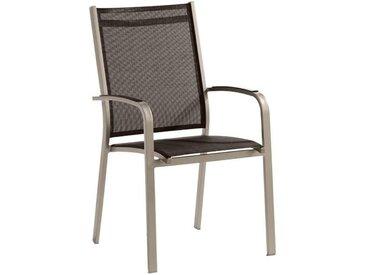 Sieger Meran Stapelsessel Aluminium/Textilux® Taupe