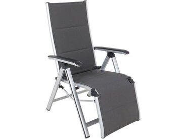 MWH Secoro Relaxsessel Aluminium/Textilene Silber/Grau