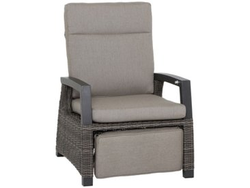Siena Garden Corido Deckchair Aluminium/Geflecht inkl. Kissen Matt Anthrazit/Charcoal-Grey/Taupe