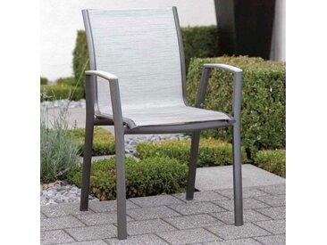 Stern Ron Stapelsessel Aluminium/Textilene Anthrazit/Silber