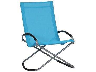 Siena Garden Brava Campingsessel Stahl/Ranotex®-Faser 2x1 Silber/Sky Blue