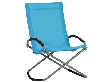Siena Garden Brava Campingsessel Stahl/Ranotex®-Faser 2x1 Blau|Hellgrau