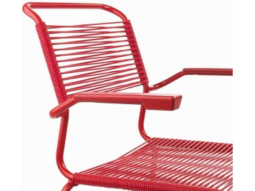 Schaffner Säntis Gartensessel Stahl beschichtet/Rope Rot/Rot