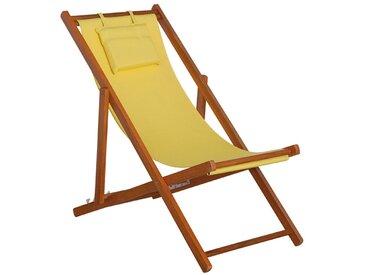 Siena Garden Faro Beach-Liegestuhl Holz/Textilene Gelb