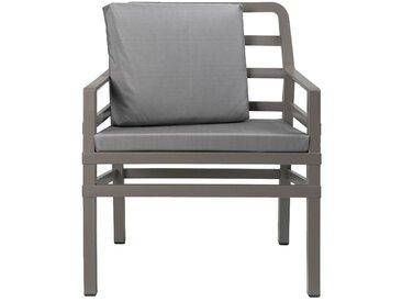 Nardi Aria Petit Sofa Loungesessel Kunststoff inklusive Kissen Taupe/Grau