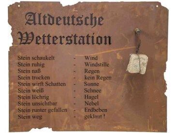 H.G-Deko Altdeutsche Wetterstation 80x70cm Stahlblech