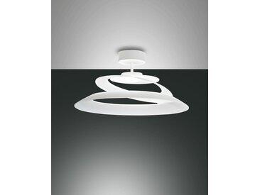 LED Deckenlampe weiß Fabas Luce Aragon 1620lm 3000K dimmbar 530mm