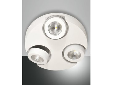 LED Deckenlampe weiß Fabas Luce Hella 1350lm 3-flg. dimmbar