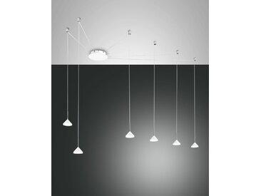 LED Hängelampe weiß Fabas Luce Isabella 4320lm 6-flg. dimmbar