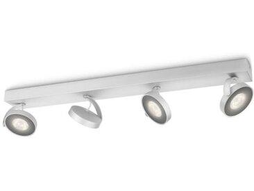 Philips myLiving LED Spot Clockwork 4flg. 531744816, 2000lm, Aluminium lackiert