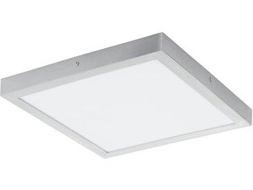 LED Deckenleuchte eckig EGLO FUEVA 1 silber 400x400mm 4000K