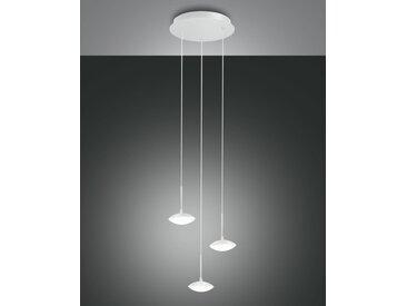 LED Hängelampe weiß Fabas Luce Hale 2100lm 3-flg.