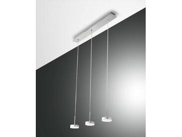 LED Hängelampe Alu gebürstet Fabas Luce Dunk 2100lm 3-flg. dimmbar