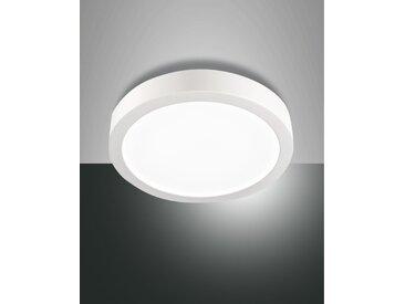 LED Deckenlampe weiß Fabas Luce Mirka 180mm 1650lm