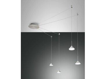 LED Hängelampe Alu satiniert Fabas Luce Isabella 2880lm 4-flg. dimmbar