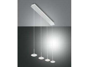 LED Hängelampe weiß Fabas Luce Hale 2800lm 4-flg. dimmbar