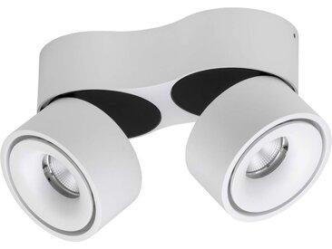 Lumexx Double LED Aufbauleuchte weiß/schwarz 2x10W, 2x680lm, 2700k