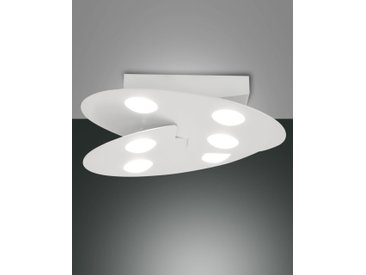 LED Deckenlampe weiß Fabas Luce Cake 4050lm 360mm dimmbar