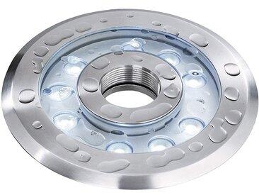Deko Light Wave II CW Unterwasserleuchte LED silber IP68 1600lm 6500K >70 Ra 25° Modern
