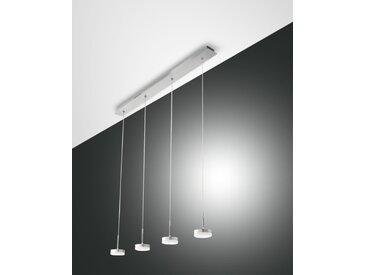 LED Hängelampe Alu gebürstet Fabas Luce Dunk 2800lm 4-flg. dimmbar