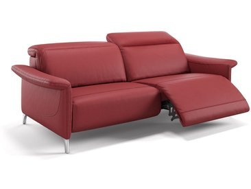Leder 3 Sitzer Sofa SAMANA Couch Ledersofa