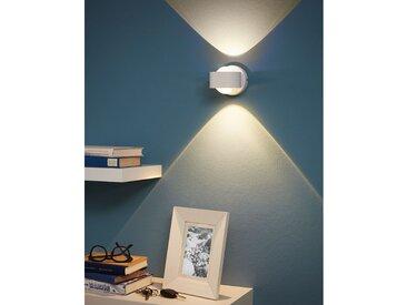 Eglo LED-Wandleuchte Ono Modern Weiß Aluminium/Kunststoff Dimmbar 2-flammig 9x8x9 cm (BxHxT) inkl. Leuchtmittel