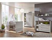 Schardt Babyzimmer Eco Silber 3-teilig Weiß/Holzdekor Pinie Silber Hartfaserplatte Modern