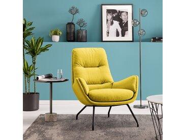 Studio Copenhagen Sessel Garbo VI Gelb Webstoff 83x94x97 cm (BxHxT)
