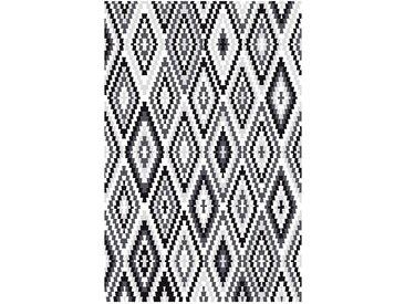 Top Square Teppich Fresh Kelim Weiß/Grau 200x290 cm (BxT) Modern Kunstfaser
