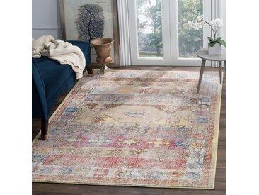 Safavieh Vintage-Teppich Yasmeen Mehrfarbig Rechteckig 243x304 cm (BxT) Modern Vintage Design Kunstfaser