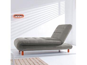 Fredriks Chaiselongue Energy Grau Webstoff 162x88x87 cm (BxHxT) mit Schlaffunktion Modern
