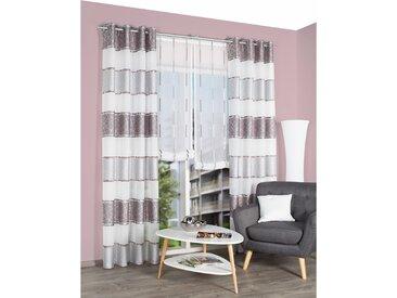 Home Wohnideen Scheibengardine Elizaville Grau/Weiß 140x245 cm (BxH) Polyester